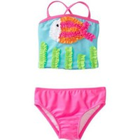 Love U Lots Baby-Girls Infant Tankini With Ruffle Fish