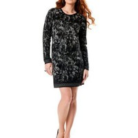 A Pea in the Pod Collection: French Connection Long Sleeve Slim Fit Maternity Dress