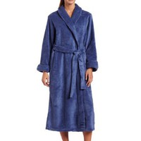 Casual Moments Women`s 50 Inch Shawl Collar Set-In Belt Robe