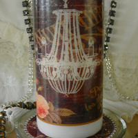 Decorative Glam Candle and holder
