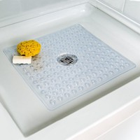 Deluxe Square Shower Mat - Clear
