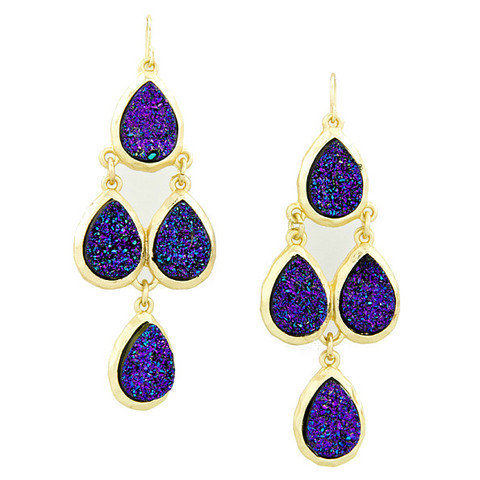Pree Brulee - Purple Fantasy Druzy Earrings
