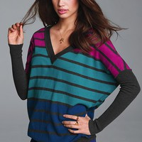 Striped V-neck Sweater - Victoria&#x27;s Secret