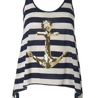 sequins anchor tank $24.90