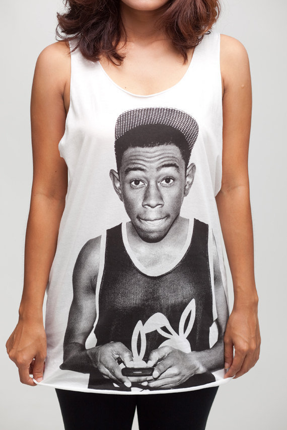 Tyler The Creator T Shirt Hip Hop Rap Women White T-Shirt Vest Tank Top Singlet Sleeveless Size S M