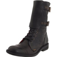 Kickers Women`s Histarmy Boot,Black Leather,39 (US Women`s 8.5) M US