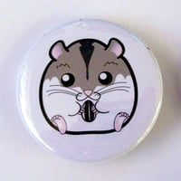 Winter White Dwarf Hamster Pinback Button