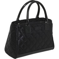 Sachi Fashion Insulated Lunch Bag, Black Quilted