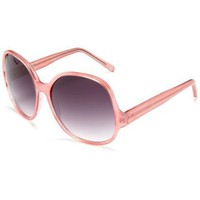 Colors in Optics Women`s CS109S Resin Sunglasses,Pink Frame/Gradient Smoke Lens,one size
