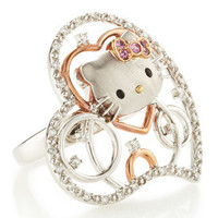 Hello Kitty - Diamond Hello Kitty Heart Cutout Ring, Size 7 - Last Call
