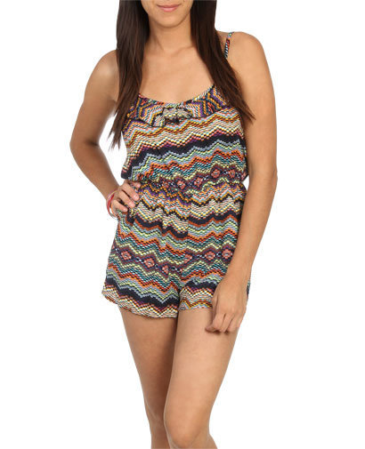 Ruffle Print Romper | Shop Dresses at Wet Seal