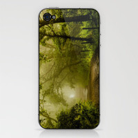 Misty Woodland Lane iPhone & iPod Skin by John Dunbar | Society6