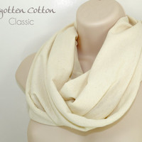 Infinity Scarf Cream Off White Circle Loop Jersey