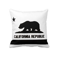 California Republic Pillow from Zazzle.com