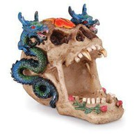 - Open Dragon Skull Polyresin Ashtray - each - Other
