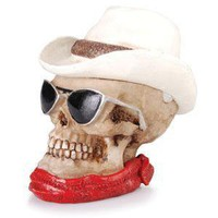 - Cowboy Skull Polyresin Ashtray - each - Other
