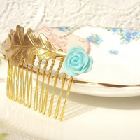 Bliss - Oak Leaf Hair Comb on Luulla