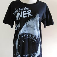 Shark Shirt Shark Week Fish Head Animal -- Animal T-Shirt Women T-Shirt Men T-Shirt Animal Tee Shirt Black T-Shirt Size S, M