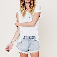 Free People Womens Lacey Denim Cutoff Shorts -