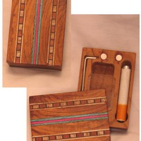- Wooden Dug Out w/Inlays - Bat & Poker - each - Other