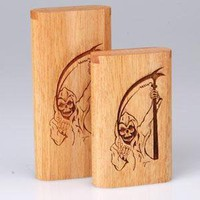 - Twist Top Teak Laser Engraved Grim Reaper Large - each - Other