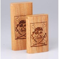 - Twist Top Teak Laser Engraved Pirate Large - each - Other
