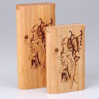 - Slide Top Teak Laser Engraved Fairy Large - each - Other