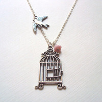 Free Bird Necklace, Silver - Sparrow