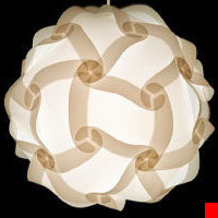 12 in. or 30cm IQ Pendant Light Modern Lighting Decor ZELight White Jigsaw