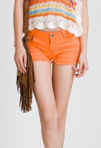 Neon Shorts in Orange - Pants - Bottoms - Retro, Indie and Unique Fashion