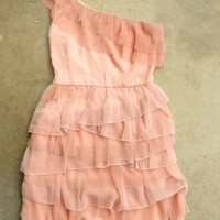 Tiered Peony Chiffon Party Dress [2388] - $32.00 : Vintage Inspired Clothing &amp; Affordable Summer Dresses, deloom | Modern. Vintage. Crafted.
