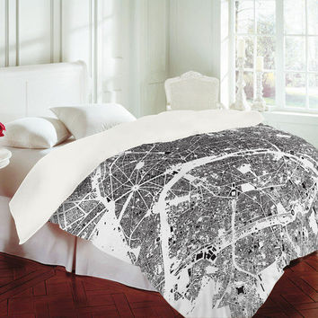 DENY Designs Home Accessories | CityFabric Inc Paris White Duvet Cover
