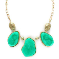 Pree Brulee - Mint Druzy Wanderlust Necklace