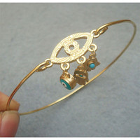 Evil Eye Bangle Bracelet