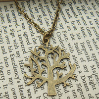 Fancy  Tree Brass Necklace