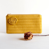 Mustard Bridal Pouch Or Bridesmaids.. on Luulla