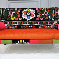 Patchwork sofa with Suzani fabrics - 2