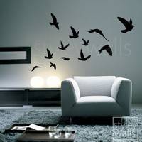 Flying Birds Set of 12 - Vinyl Wall Decal
