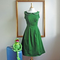 KELLY retro dress with a peter pan Collar by MichelleTan on Etsy