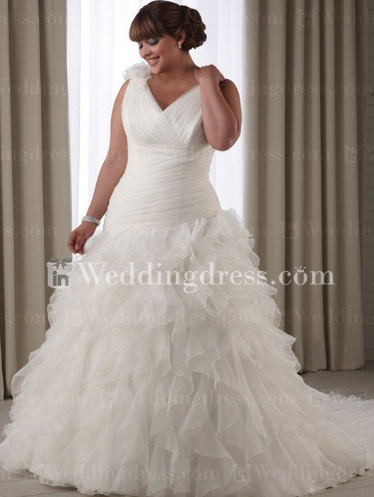 Drop Waist Wedding Dress Plus Size