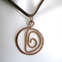 Lyre Spiral Pendant in hammered copper Italy by daganigioielli