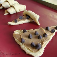 Chocolate and Peanut Butter Filled Crescent Rolls
