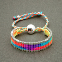 Link Friendship Bracelet - Rainbow Neon Color
