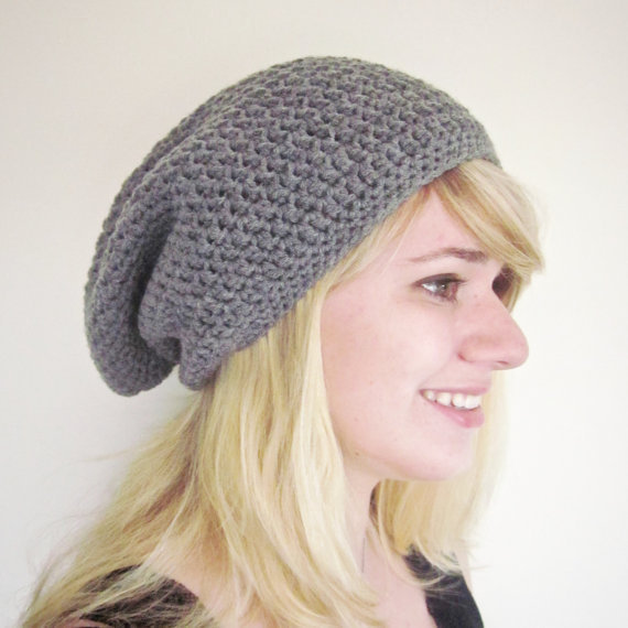 How To Crochet A Beanie : Crochet Slouchy Beanie Hat Kawaii Crochet