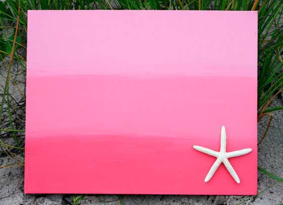 Ombre Starfish Painting in shades of Pink