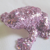 Purple glitter frog
