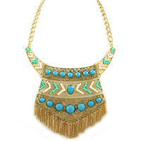 Pree Brulee - Uluru Tribal Mint &amp; Azure Necklace