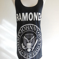 Ramones Punk Rock Heavy Metal Rock Music -- Ramones Shirt Women T-Shirt Tank Top Sleeveless Ramones T-Shirt Black T-Shirt Size S , M