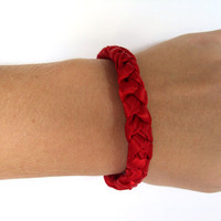 Vampire Red Fancy Braid Bracelet