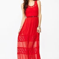 Laced Maxi Dress